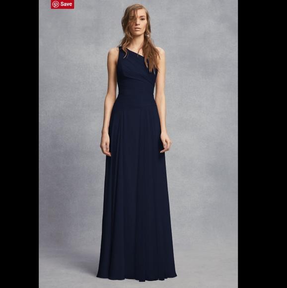 White by Vera Wang Dresses & Skirts - VERA WANG Sheer Strap 1 Shoulder Sheath Dress. 8